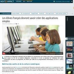 Les élèves français devront savoir créer des applications simples