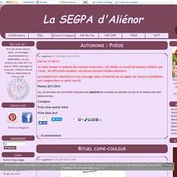 Français : divers - La SEGPA d'Aliénor