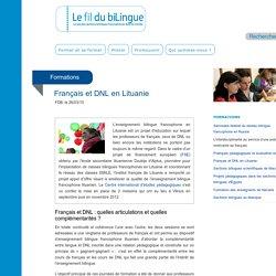 Français et DNL en Lituanie