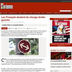Les Français doutent du clivage droite-gauche
