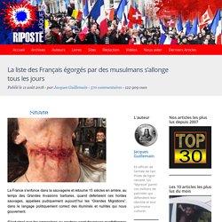 La liste des Français égorgés par des musulmans s'allonge tous les jours