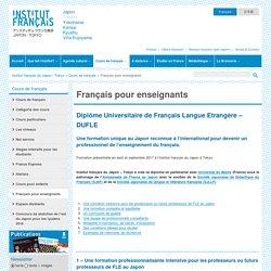 Formation en Institut français du Japon à Tokyo