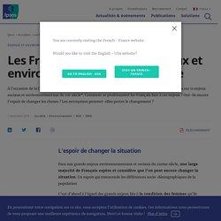 Les Français et les enjeux sociaux et environnementaux du 21e siècle