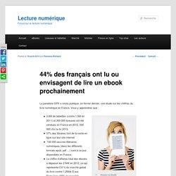 44% des français ont lu ou envisagent de lire un ebook
