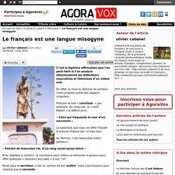 Le français est une langue misogyne