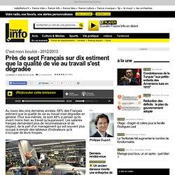 Près de sept Français sur dix estiment que la qualité de vie au travail s'est dégradée
