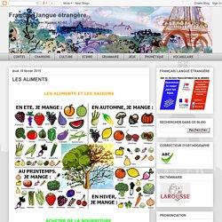 Français langue étrangère: LES ALIMENTS