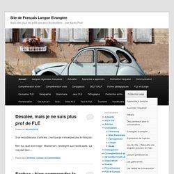 Site de Français Langue Etrangère - Aussi bien pour les profs que pour les étudiants... par Agnès Picot