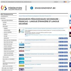 français - langue étrangère et langue seconde
