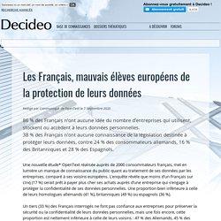 Les Français, mauvais élèves européens de la protection de leurs données