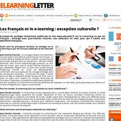 Les Français et le e-learning : exception culturelle ?