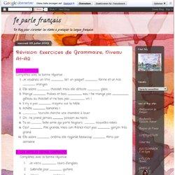 Révision: Exercices de Grammaire, Niveau A1-A2