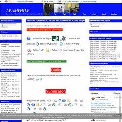 Math et français cp : 163 fiches d'exercices à télécharger, imprimer, faire en ligne