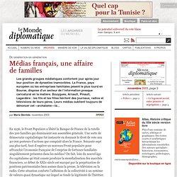 Médias français, une affaire de familles, par Marie Bénilde