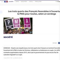 Les trois quarts des Français favorables à l'ouverture de la PMA pour toutes, selon un sondage