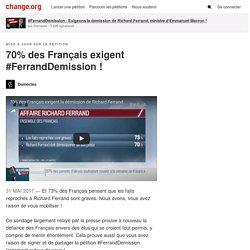 70% des Français exigent #FerrandDemission
