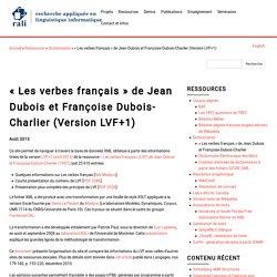 « Les verbes français » de Jean Dubois et Françoise Dubois-Charlier (Version LVF+1)