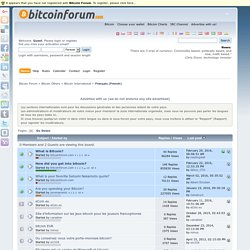 Français (French) - Bitcoin Forum