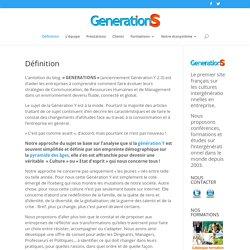 Premier blog français sur la génération Y et définition