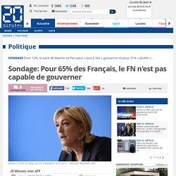 Sondage: Pour 65% des Français, le FN n'est pas capable de gouverner