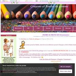 FICHES de FRANCAIS (Grammaire) - Crayons et Boules de gomme (CRPE 2017)