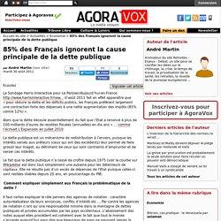 85% des Français ignorent la cause principale de la dette publique