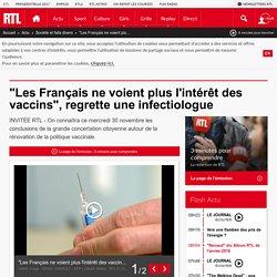 """""""Les Français ne voient plus l'intérêt des vaccins"""", regrette une infectiologue"""