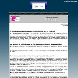 Les français et Internet (étude TNS Sofres)