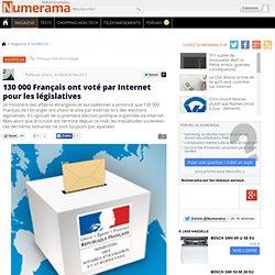 130 000 Français ont voté par Internet pour les législatives