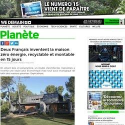 Deux Français inventent la maison zéro énergie, recyclable et montable en 15 jours