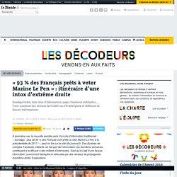 «93% des Français prêts à voter Marine LePen»: itinéraire d'une intox d'extrême droite