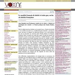 Le modèle français de laïcité n'existe pas, ou les six laïcités françaises ››› Jean Baubérot