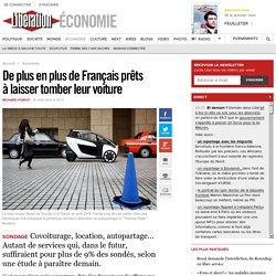 De plus en plus de Français prêts àlaisser tomber leurvoiture