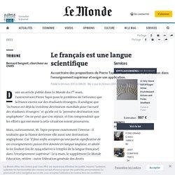 Le français est une langue scientifique
