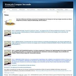 Français Langue SecondeThèses