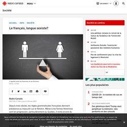 Le français, langue sexiste?