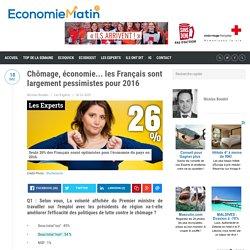 Les Français sont largement pessimistes pour 2016