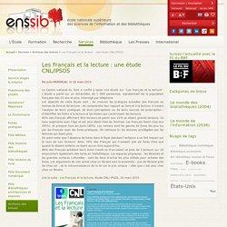 Les Français et la lecture : une étude CNL/IPSOS