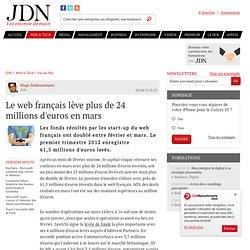 Le web français lève plus de 24 millions d'euros en mars