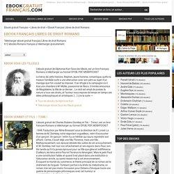 Ebook Français Libres de droit Romans gratuit