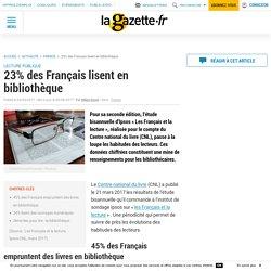 23% des Français lisent en bibliothèque