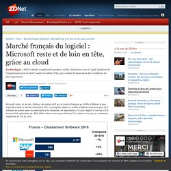 Marché français du logiciel : Microsoft reste et de loin en tête, grâce au cloud - ZDNet