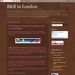 B&B in London: Un numero Francais a Londres? Oui c'est possible !