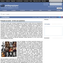 Français au lycée : la foire aux questions