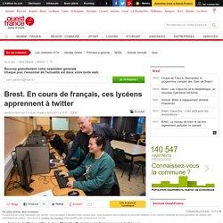 Brest. En cours de français, ces lycéens apprennent à twitter