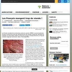Les Français mangent trop de viande !