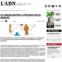Les Français mettent la pression sur les marques - ETUDE