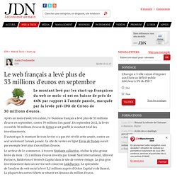 Le web français a levé plus de 33millions d'euros en septembre