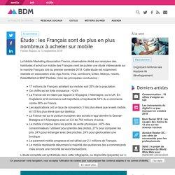 Étude : les Français sont de plus en plus nombreux à acheter sur mobile
