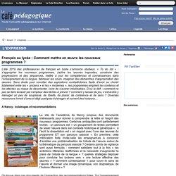 Français au lycée : Comment mettre en œuvre les nouveaux programmes ?
